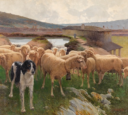 En la presa o Un rebaño de ovejas